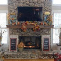 Fall Ideas Tour- Fall Mantel
