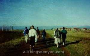 Walking to the US Peace Corps Training Centre