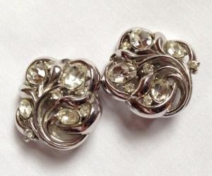1960s Crown Trifari Earrings 2