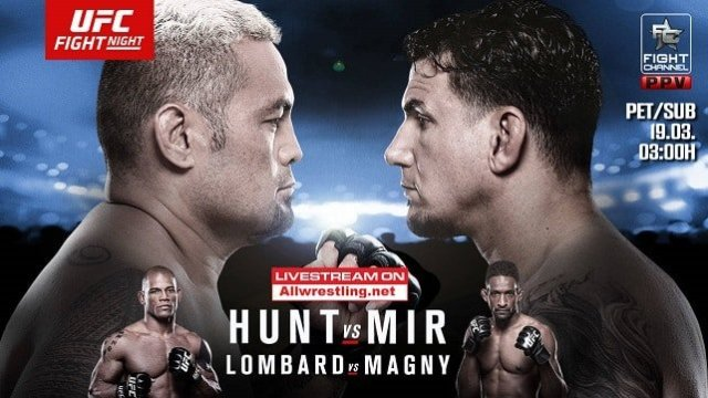 Watch UFC Fight Night 85: Hunt vs Mir 3/19/2016 Full Show Online Free