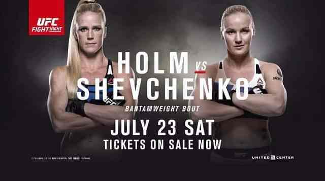 Watch UFC Fight Night Holm vs Shevchenko 7/23/2016 Full Show Online Free