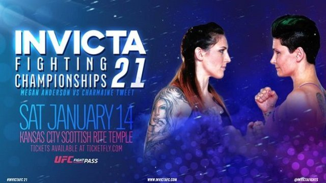 Watch Invicta FC 21: Anderson vs. Tweet 1/14/2017 Full Show Online Free