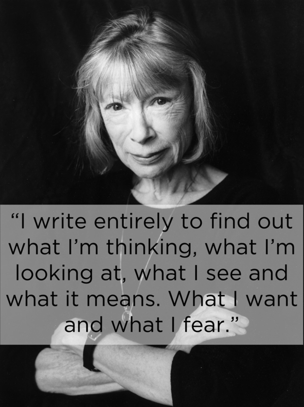 joan didion essay migraine The writer joan didion suffered from fairly severe migraine since childhood, writing that without medication she would have functioned maybe one day in four she wrote a fantastic and relatable essay on the topic, in bed, which is collected in her essay volume the white album.
