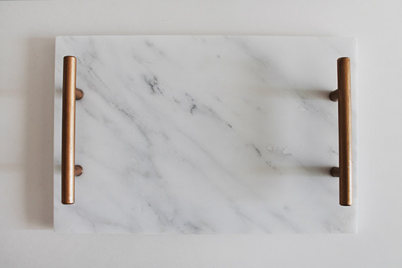 diy marble tray by almost makes perfect