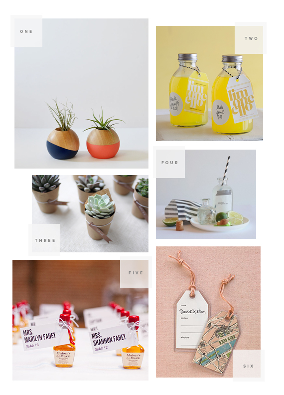 6 best DIY wedding favors | almost makes perfect