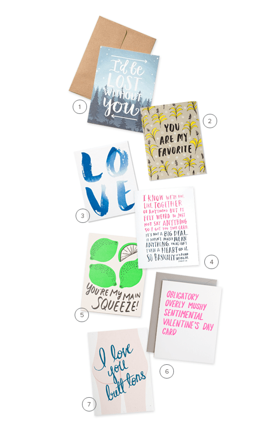 cute + not too mushy valentines cards | almost makes perfect
