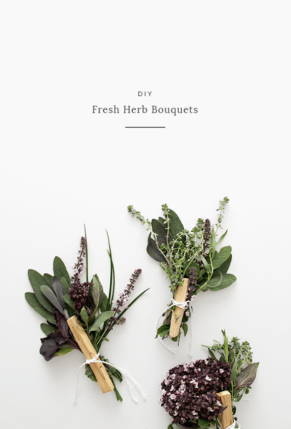 diy fresh herb bouquet | almost makes perfect