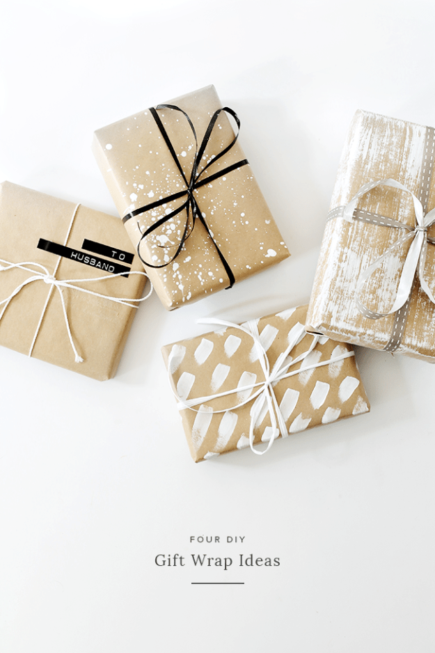 four DIY gift wrap ideas | almost makes perfect