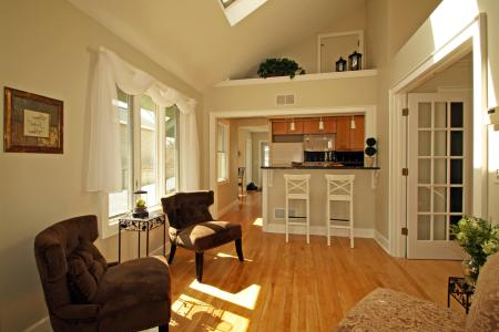 small kitchen living room combination