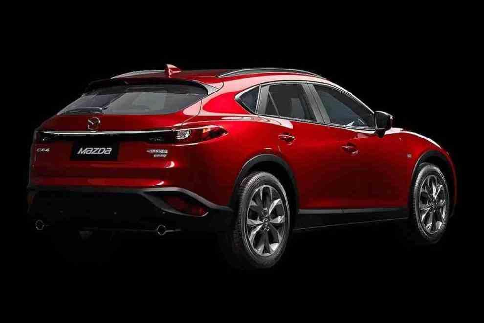 التصميم الخلفي للسيارة مازدا CX-4 2017