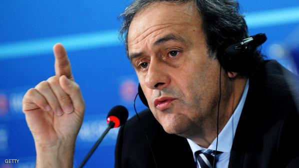 UEFA president Michel Platini speaks during a news conference after an UEFA executive committee meeting in Sofia on March 28, 2013. UEFA reiterated its zero-tolerance policy on racism at a meeting in Sofia, encouraging referees to halt matches if need be and encouraging teams to denounce racism among fellow players and fans.  AFP PHOTO / NIKOLAY DOYCHINOV        (Photo credit should read NIKOLAY DOYCHINOV/AFP/Getty Images)