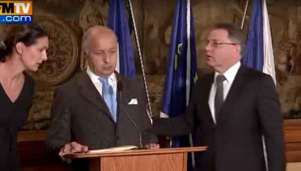 وزير خاجية فرنسا لوران فابيوس