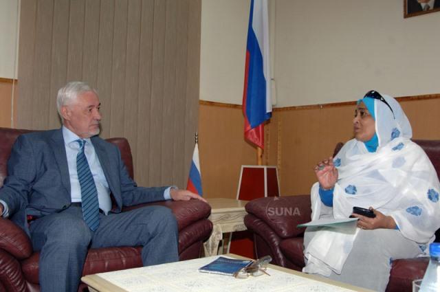 سفير روسيا في السودان السيد أمير غياث