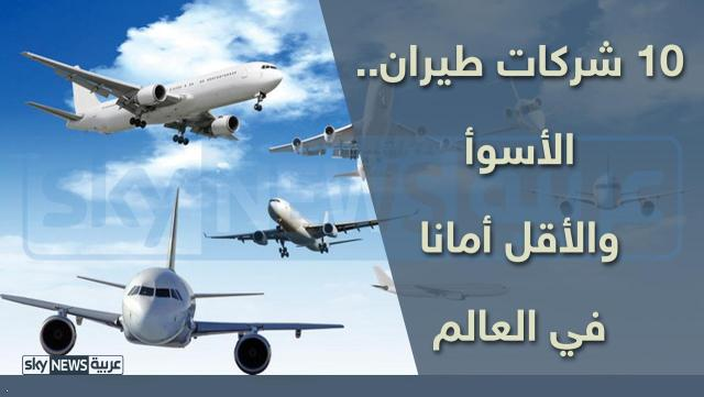 """أسوأ 10"""""""" شركات طيران في العالم"""