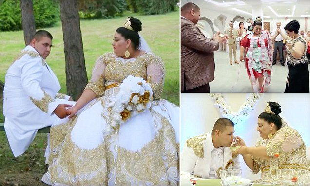 Slovakian gypsy wedding with bride showered with 500 euro notes and gold went viral in Slovakia and Russia
