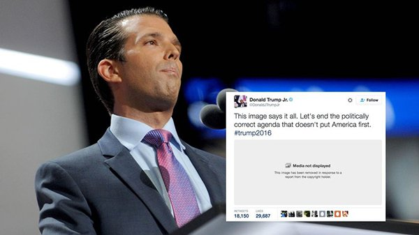 لماذا حذف تويتر صورة نشرها نجل ترامب؟