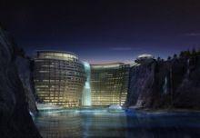 بالصور:فندق ضخم تحت الأرض في شنغهاي بالصين ، مشروع جديد يتحدى الطبيعة