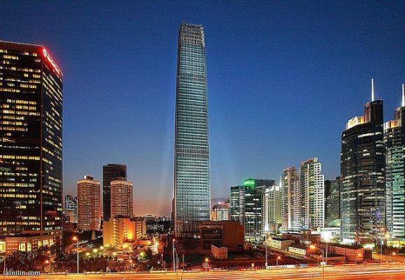 أطول ناطحة سحاب في بكين -- الصين مركز التجارة العالمي برج 3