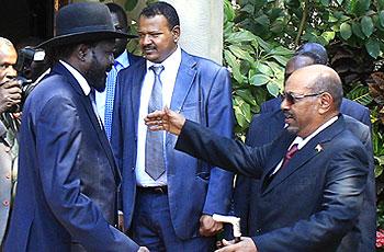 البشير وسلفاكير في جوبا يوم 6 يناير الحالي