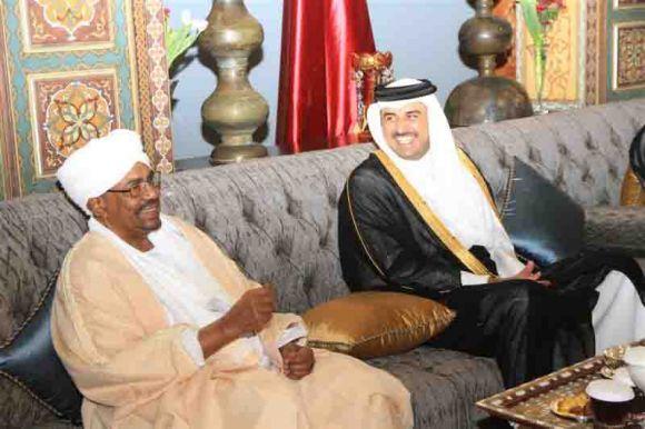 البشير والشيخ تميم : مباحثات سودانية قطرية بالدوحة 08-07-2014