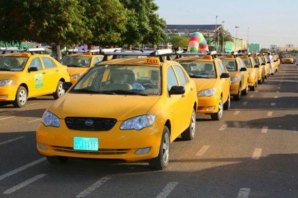 تاكسي العاصمة السودانية (الخرطوم) الحديث  يناير 2015