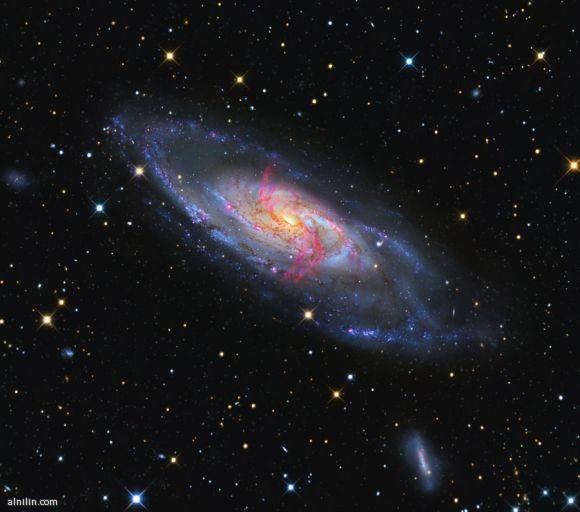 مجرة حلزونة تبعد 21 مليون سنة ضوئية  عن مجرة درب التبانة