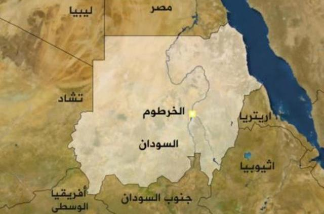 خريطة السودان والدول المجاورة