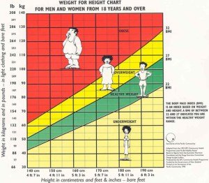 BMI Weight Chart
