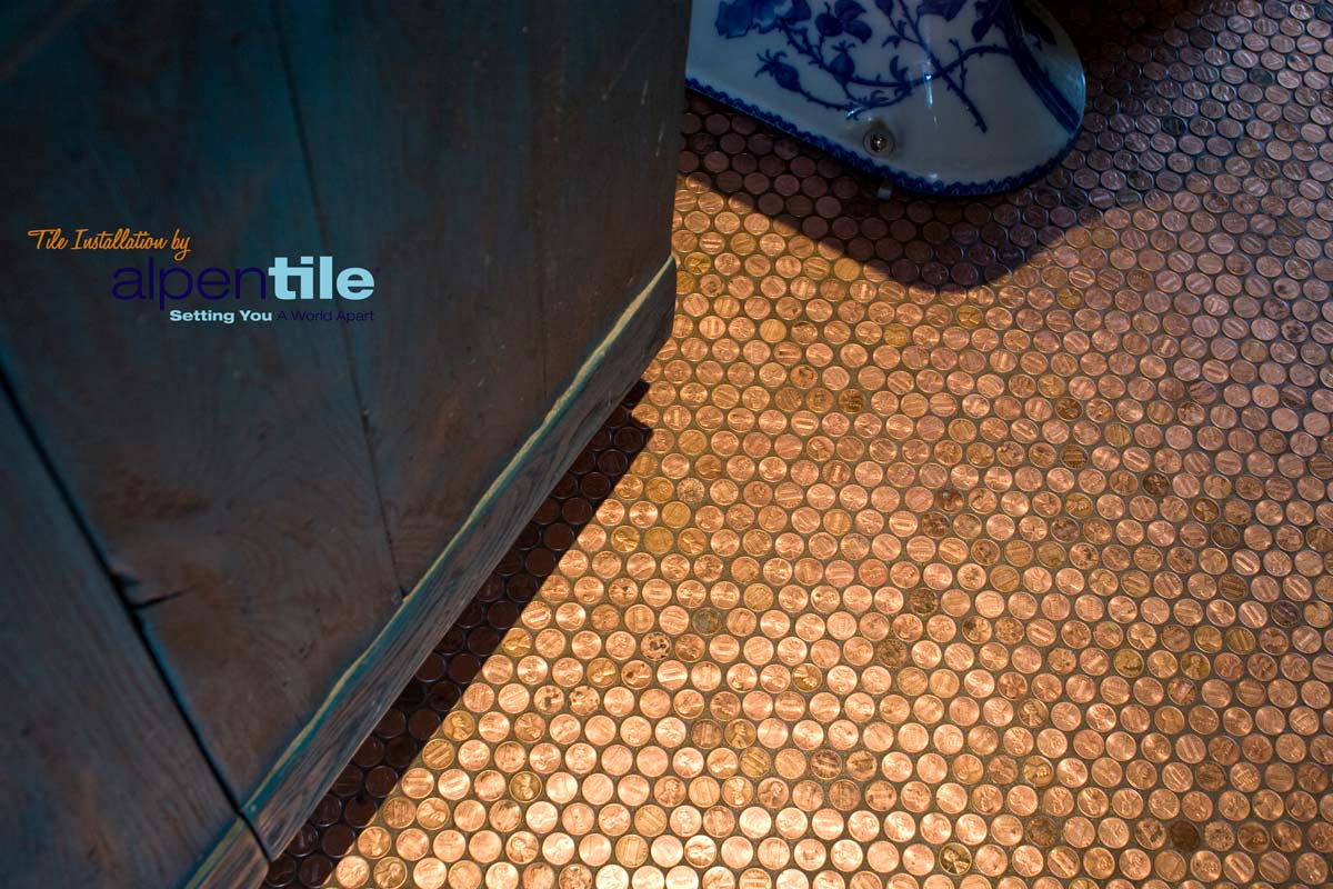 Our copper penny floor featured on interiorholic alpentile alpentilepennyfloor4 web dailygadgetfo Image collections