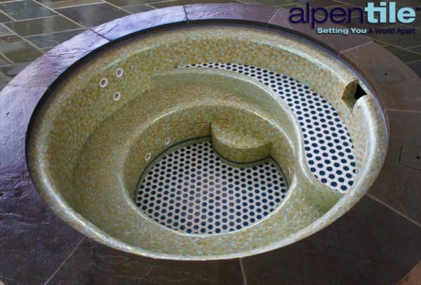 Glass Tile Pool Alpentile 1