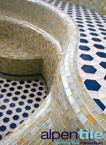 Glass Mosaic Patterned Spa
