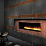 Custom Tile Fireplace Feature