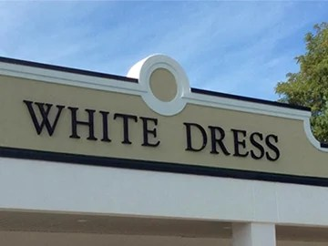 Plastic Building Letters   Easy Install  Online Designer   Lifetime     store front sign letters that say white dress