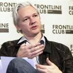 WikiLeaks founder Julian Assange speaks at a news conference in London