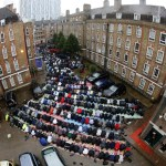 Muslims attend Friday prayers on first day of Ramadan in east London