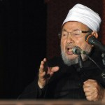 Egyptian Cleric Sheikh Yusuf al-Qaradawi, chairman of the International Union of Muslim Scholars, gives a speech during Friday prayers, before a protest against Syrian President Bashar al-Assad, at Al Azhar mosque in old Cairo