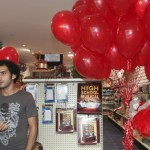 Saudi men buy red balloons at a gift shop on Valentine's Day in Jeddah