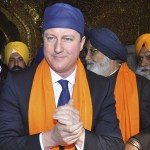 Britain's PM Cameron visits the holy Sikh shrine of Golden temple in Amritsar