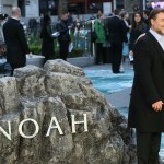 "Actors Russell Crowe and Hugh Jackman arrive for the UK premiere of ""Noah"" in Leicester Square in London"