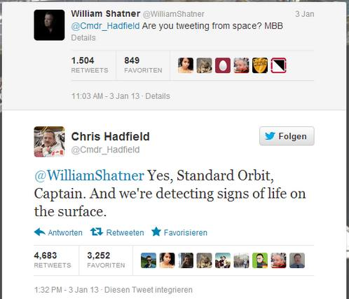 Captain Kirk twittert