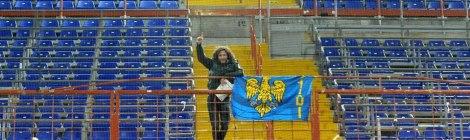 Arrigo Provedani, allein im Gästeblock