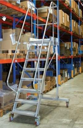 Four Wheel Mobile platform ladders