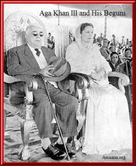 Aga Khan III with Begum Aga Khan 1932