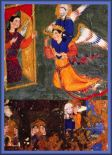 Prophet Muhammad carried by Angel Gabriel to Ridwan at the gate of Heaven Amaana.org