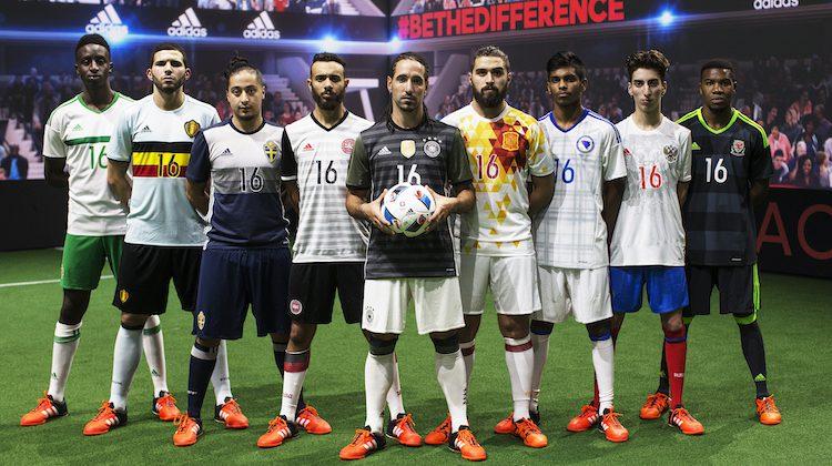 Nazionali adidas 2016: maglie di Germania, Spagna e Belgio