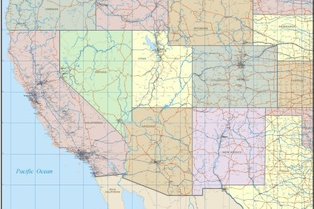 pics photos west coast usa wall map