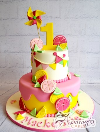 Two Tier Lemonade Cake - Amarantos Designer Cakes Melbourne