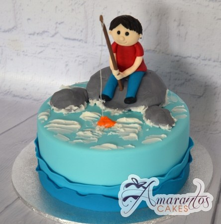 Cake Fishing Theme - Amarantos Custom Made Cakes Melbourne