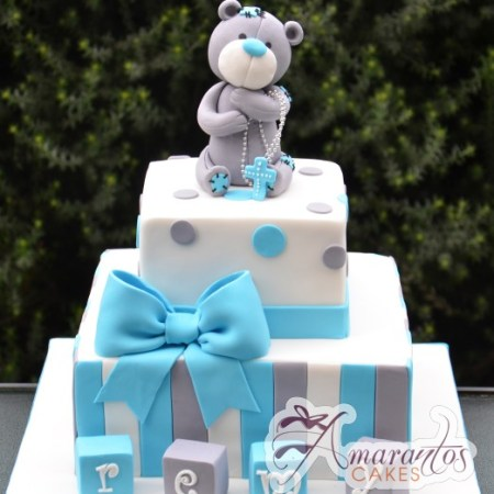 two tier with teddy