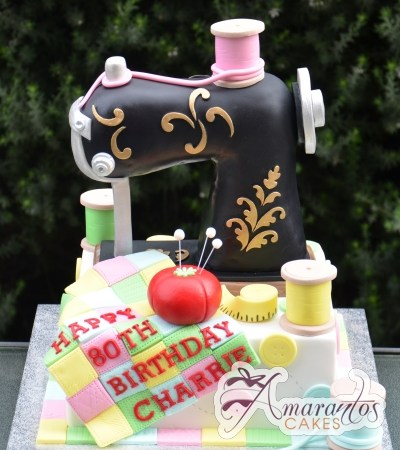 3D sewing machine cake - Amarantos Cakes Melbourne
